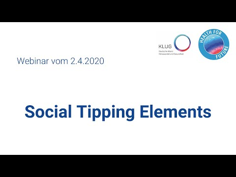 Social Tipping Elements (Online-Seminar mit PD Dr. habil. Ilona M. Otto)