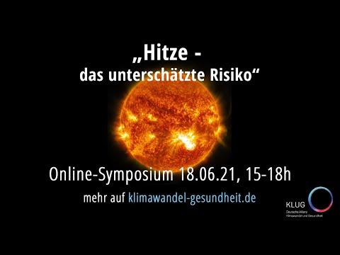 """Online-Symposium """"Hitze – das unterschätzte Risiko"""""""