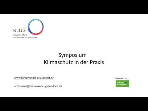 """Symposium """"Klimaschutz in der Praxis"""""""