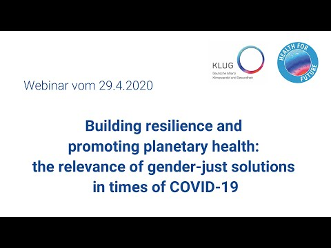 The relevance of gender-just solutions in times of COVID-19 (Webinar, in English)