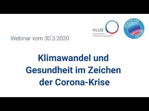Klimawandel und Gesundheit im Zeichen der Corona-Krise